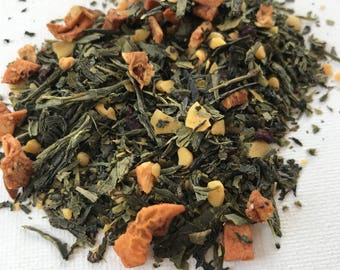 Almond Green Tea High Grade All Natural Loose Leaf Tea Flavored Green Tea Sencha Tea