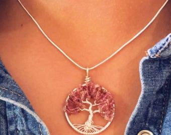 Miniature Tree of Life necklace jewellerybynovita wire wrapped
