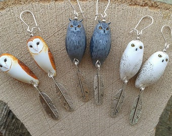 Earrings, OWL and OWL Totem (made to order)