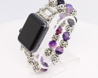 Purple and Tibetan Apple Watch band - 38MM - 42MM - Apple Watch Bands - Apple Watch Band Women