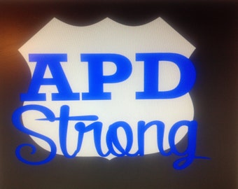 Black APD Strong Women's Shirt