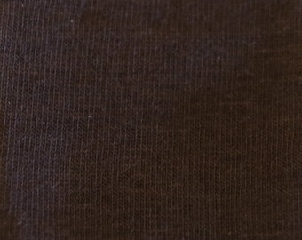 KNIT Fabric: Dark Brown Cotton Lycra knit