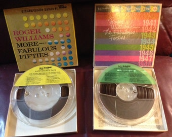 Roger Williams reel to reel set Fabulous 40s and Fabulous 50s