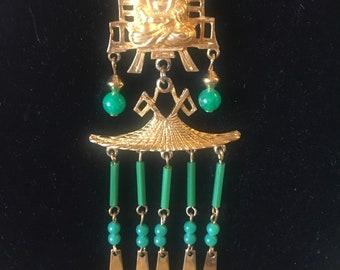 ModeArt Budda Faux Jade necklace