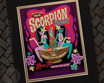 Swinging Scorpion Print