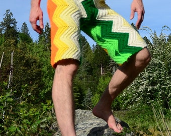 Crochet Shorts LongBoard  ZigZags