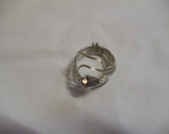 """5 1/2"""" Silver Wire Wrapped Ring, Ring, Wire Wrapped"""