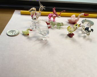 Miniature glass animals
