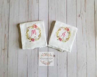 Flour Sack Towels, Kitchen Towel, Lines, Free Shipping, Handmade