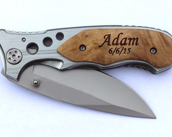 Personalized Knife, Gift for Boyfriend, Birthday Gift for Him, Gift for Men, Laser Engraved Knife,Gift for Dad, Gift for Husband, Knives