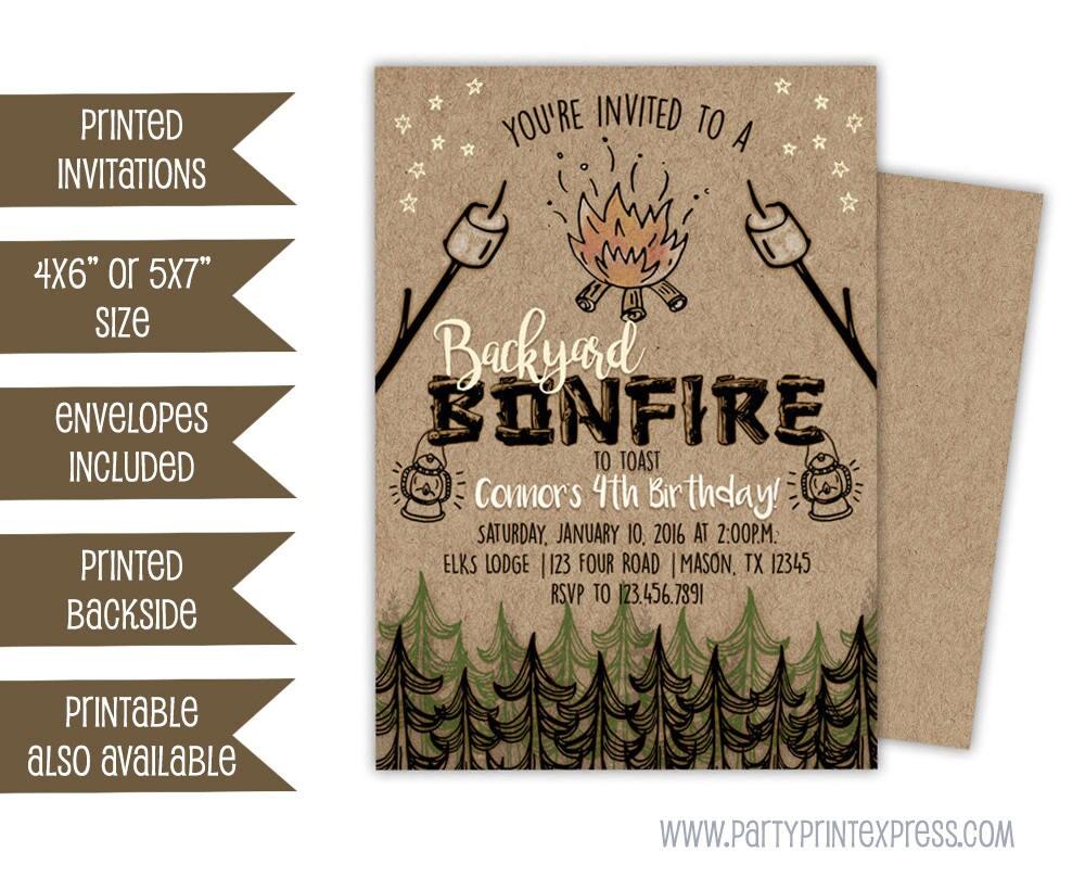 Bonfire Invitations Bonfire Birthday Invitation Bonfire