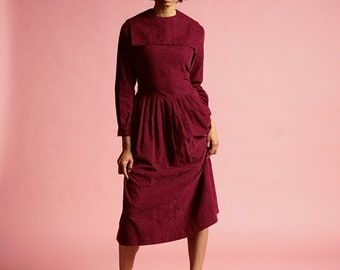 Vintage Dress - A-Line, Cotton, Laura Ashley, 1980s, Retro, British, Women's