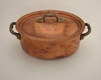 Petite Copper Roasting Pan France