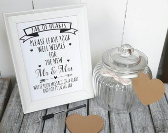 Wedding Jar of Hearts,guest book,wedding