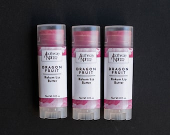 Dragon Fruit Kokum Lip Butter | Lip Balm | Passionfruit Lip Balm | Rose Lip Balm | Lip Butter | Dragon Fruit | Passionfruit Rose