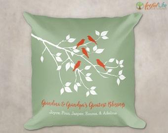 GRANDCHILDREN PILLOW, Grandkids Pillow, Gift for Grandparents from Grandchildren, From Grandkids, Accent Pillow, Personalized Pillow