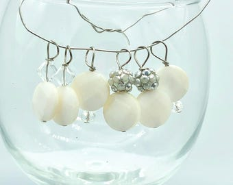 Stitch Markers Faceted Round Beads