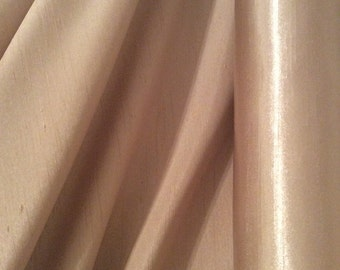 Top Quality Caffe Latte Satin Back Polyester Dupion Fabric x one metre