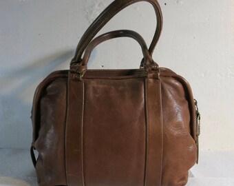 Coach Doctor BAG Brown Leather Vintage Seventies