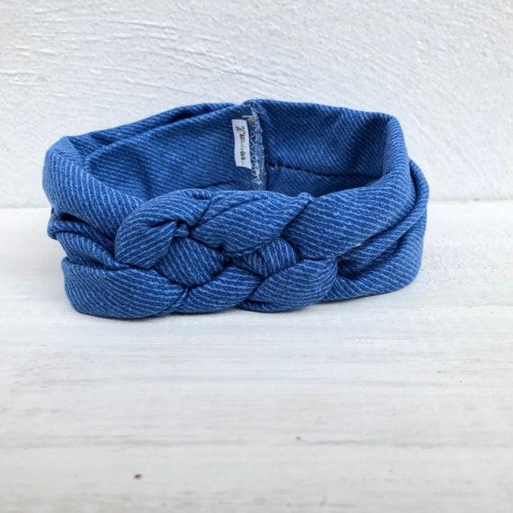 Blue Baby Headband, Jeans Baby Headband, Knot Headband, Baby Knot Headband, Newborn Headband, Infant Headband, Handmade Headband
