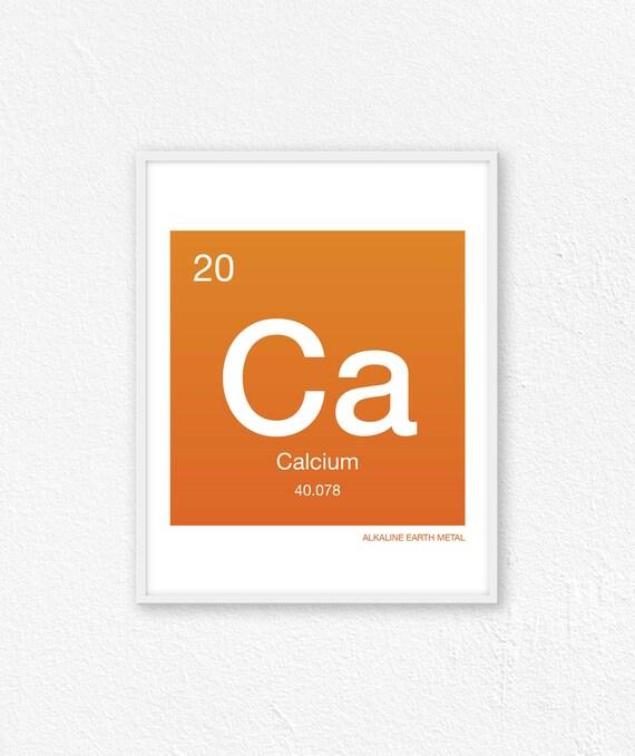 20 Calcium Periodic Table Element Periodic Table Of