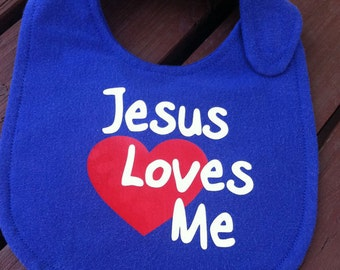 Jesus Loves Me, Digital Download SVG Cut File, Vinyl Cutting Design, for Cricut Design Space, Silhouette Studio, Bib or TShirt Design
