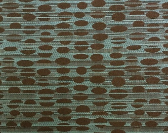 FABRIC SALE!!! Art Deco Dot - Blue/Brown - Upholstery Fabric by the Yard