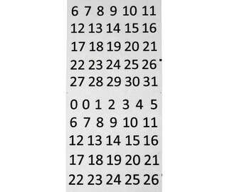 Calendar Number Medley Paper Stickers, Black, 66-Count