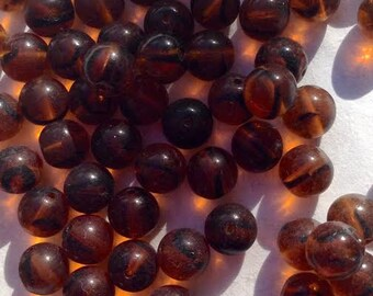 0866.012 Czech Glass Beads Tortoise Shell 8mm