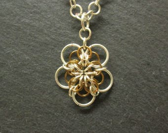 Flower Chainmail Pendant