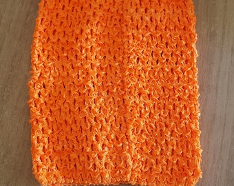 STRAPLESS stretch neon Orange crochet for creating dress 0-16 month TUTU