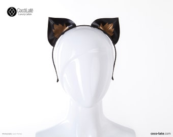Latex Kitty Ears w/ Appliqué