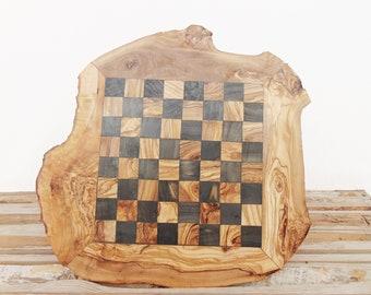 Rustic Chess Set Board Game Set 17.7 Inch, Dad gift, Boyfriend Gift, Birthday Gift, Groomsmen Gift #05