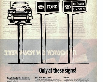 1984 Ford Repairs at Dealerships vintage magazine ad wall decor man cave (1707)
