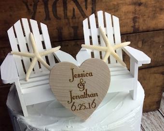 Beach Wedding Cake, Beach Cake Topper, Beach Themed Wedding Cake
