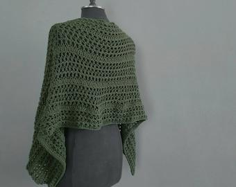 lightweight wrap shawl scarf crochet Summer cotton slow fashion small batch boho versatile striped texture