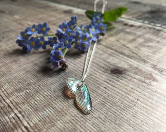 Delicate Wing and Sterling Silver Necklace, Wing Necklace