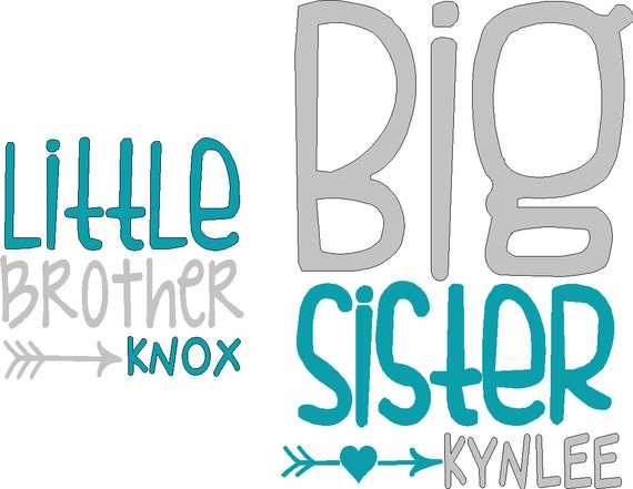 Two decals one little sibling and one big sibling iron on decals do two decals one little sibling and one big sibling iron on decals do it yourself tshirts not included from vinylexpress on etsy studio solutioingenieria Choice Image