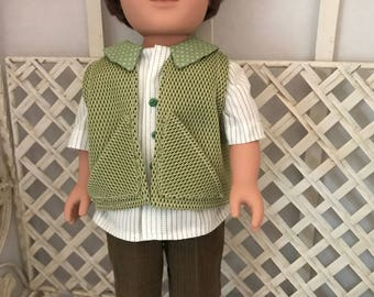 Fits Most 18 Inch Boy Doll shirt and Shorts Made in America