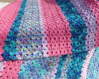 Roll of the Dice Blanket, Soft Spring Colors