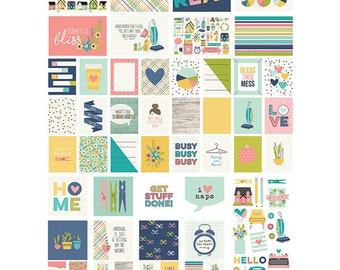 Simple Stories Domestic Bliss SN@P! Pack, Includes Double-Sided Cards and Bits and Pieces