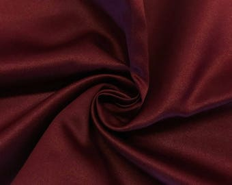 "Wine Matte Satin (Peau de Soie) Duchess Fabric Bridesmaid Dress 60"" Wide Sold BTY"