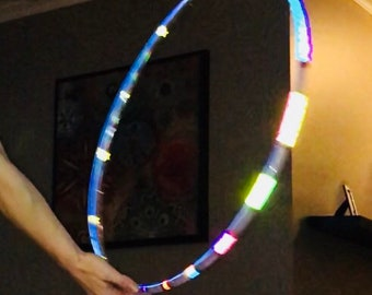 Rainbow Galaxy Reflective Hula Hoop