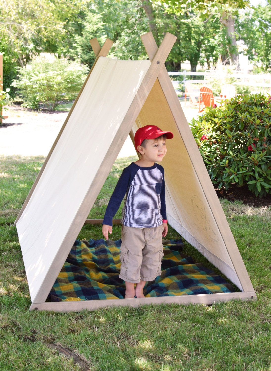 Grand expedition tent a frame tent play tent teepee lawn for Build your own canvas tent