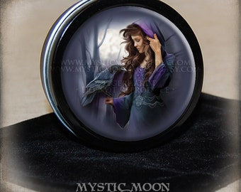 Moonlight / Stitch Marker Tin / Notion Tin / Storage Tin / Pill Box / Gift Tin / Tin Box / Alter Supplies / Spell /Crow /Pagan /Wiccan