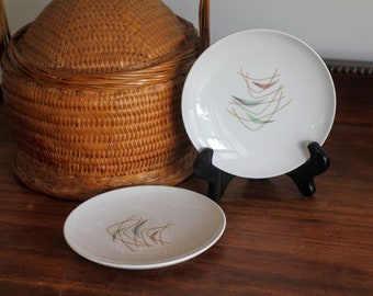 Franciscan Whitestone Ware 'Swing Time' Bread Plates, Set of Two