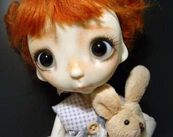 Muffin' with her Bunny friend,collectible Offer Edition' BJD' resin doll by Chrishanthi ''Ppinkydolls''