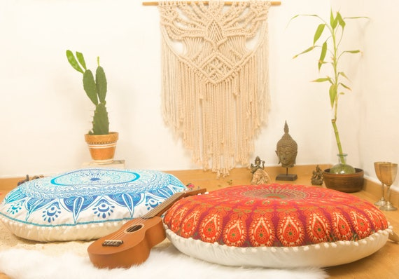 Ottoman Pouf Floor Cushions Pouf Seating Meditation Cushion