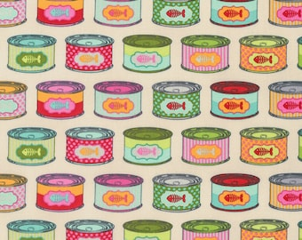 FREE SPIRIT Tabby Road PWTP094-STRA Strawberry Cat Snacks by Tula Pink