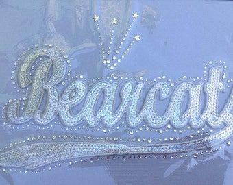 CLOSEOUT SALE Bearcats Sequins and Rhinestone Transfer Applique ONLY